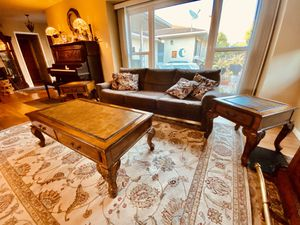 Living room couch, 2 side tables and 1 coffee table for Sale in Long Beach, CA