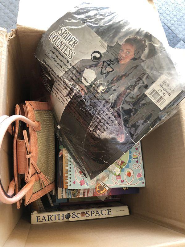 Kids stuff- Halloween costu., books, purse etc