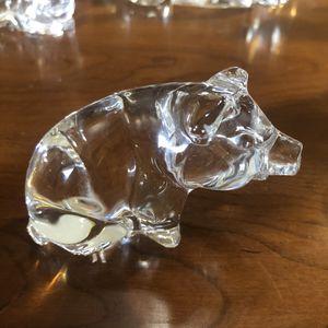 Glass pig figurine statue art decor vintage boho collectible for Sale in Phoenix, AZ