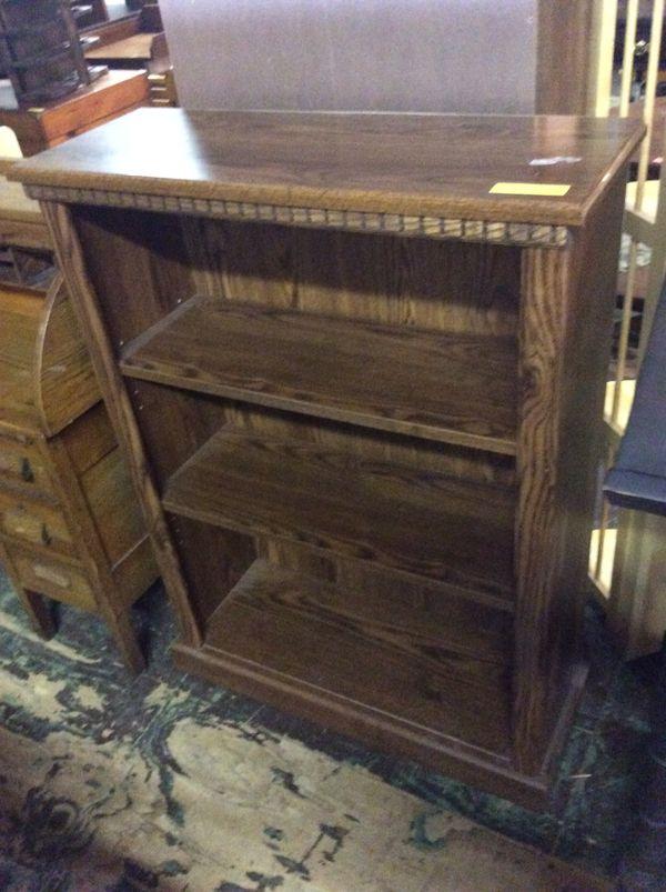 Dark Wood Style Small Book Shelf