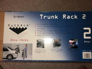 Graber Outback car trunk 2 bike rack, local sale only for Sale in Santa Maria, CA
