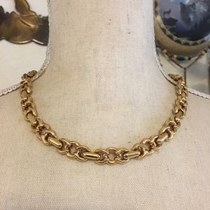 Shiny gold tone fancy link chain necklace for Sale in Henderson, NV