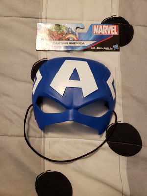 Marvel Captain America Mask by Hasbro  Child's superhero face mask for Sale in New London, CT