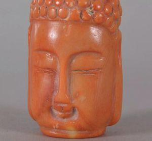 Antique Chinese Pink And Orange Coral Buddha Bottle Rare 19thc for Sale in Miami Beach, FL