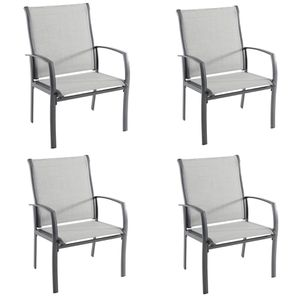 Hampton Bay Commercial Grade Aluminum Oversized Outdoor Dining Chair in Sunbrella Augustine Alloy (4- Chairs) for Sale in Phoenix, AZ