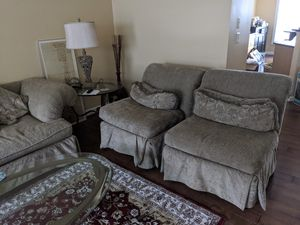 Living Room 3 piece set - Long Sofa and Sofa Chairs for Sale in Falls Church, VA