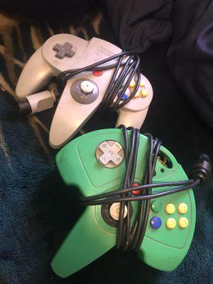 Nintendo 64 Controllers (2) N64 for Sale in Los Angeles, CA