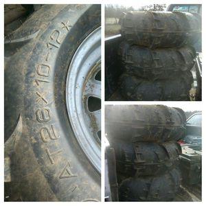 26 x 10 x 12 ATV tires And wheel for Sale in Prospect, VA