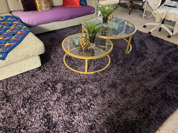 Beautiful purple carpet comfy and nice looking