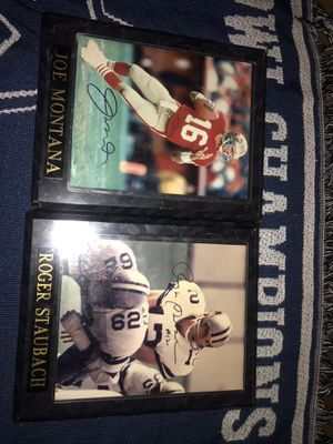 NFL ROGER STAUBACH and JOE MONTANA AUTOGRAPHED!!! for Sale in Irving, TX