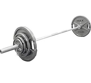 MAX OLYMPIC GRIP WEIGHTS SET PLUS BAR for Sale in San Diego, CA