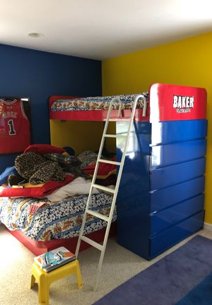 Bunk bed with attached dresser for Sale in Harrison, NY