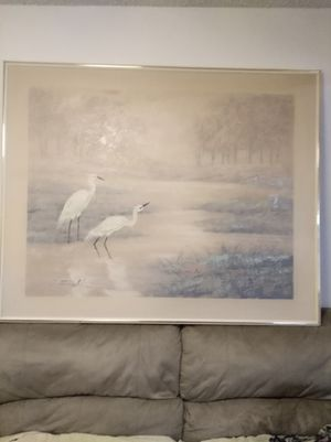 Large painting of Egrets for Sale in Stockton, CA
