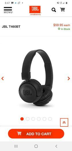 JBL wireless bluetooth studio quality headphones for Sale in Scottsdale,  AZ