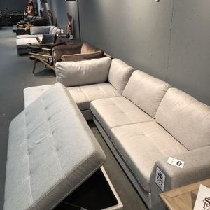 New & In Stock! Light Grey Sofa & Chaise $699! Add Storage Ottoman $199 for Sale in Vancouver, WA