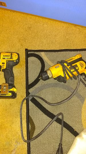 Dewalt electric drill and a plug up drill don't need nomore for Sale in Washington, DC