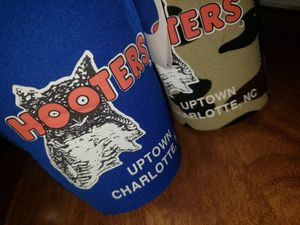 2 HOOTERS Charlotte N.C. bottle koozie for Sale in Peoria, IL