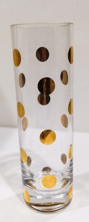 Lenox Kate Spade Pearl Place Crystal Bud Vase With Gold Dots for Sale in Southlake, TX