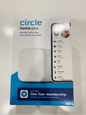 Circle Home Plus (2nd Gen)   Parental Controls - Internet & Mobile Devices   Works on Wifi, Android & iOS Devices   Control Apps, Set Screen Time Lim for Sale in Irwindale, CA