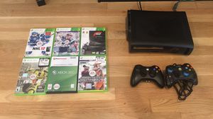 Xbox 360 in great condition, two controllers and six games for Sale in Boston, MA