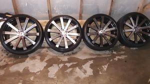 Tires R Lh five size 225/35zR 20 the rims are velocity all set of 4 for sale for 500.00 best deal for Sale in Chicago, IL