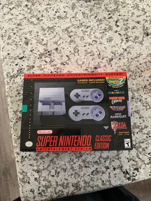 Super Nintendo entertainment system classic Edition SNES for Sale in Tacoma, WA