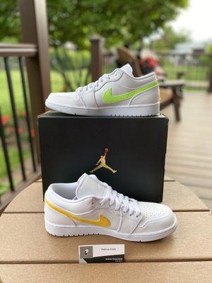 Nike Air Jordan 1 Low White Multi Color Light Aqua (CW7033 100) for Sale in Lebanon, PA