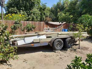 4 TIRE CAR HAULER TRAILER with 3500lbs powered winch for Sale in South Gate, CA
