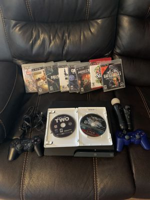 Used Sony PlayStation 3 PS3 Slim CECH-2501A 160GB Console TESTED WORKING BUNDLE for Sale in Phoenix, AZ