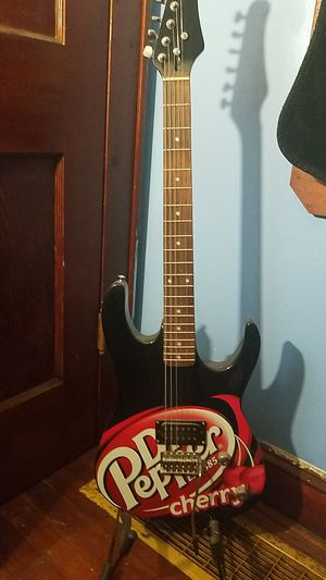 Dr Pepper Cherry electric guitar for Sale in Millport, NY