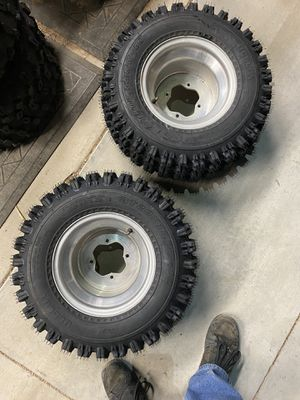 20x11-10 rear new tires / wheels Yamaha 4/115 quad atv for Sale in Phelan, CA