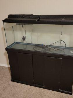 55 Gallon Fish Tank + Stand/Supplies for Sale in Tacoma,  WA