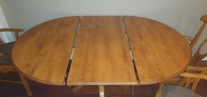 Table with extension and 4 matching chairs for Sale in San Diego, CA