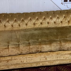 Gold antique Chesterfield Loveseat for Sale in Baltimore, MD