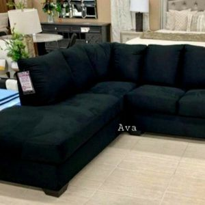 Darcy Black Sectional RAF LAF available $39 DOWN Payment Only for Sale in Elkridge, MD