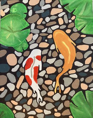 Beautiful Painting of Swimming fish for Sale in Annandale, VA