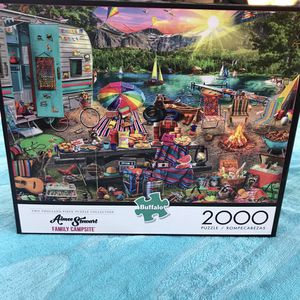 NEW!!! 2000 Piece Jigsaw Puzzle FAMILY CAMPSITE for Sale in Torrance, CA