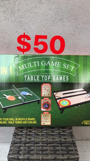 4-in-1 TABLETOP MULTI-GAME SET 🏓 🎳 for Sale in Los Angeles, CA