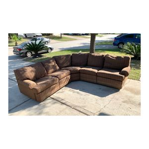 Large Sectional Recliner Couch FREE DELIVERY for Sale in Houston, TX