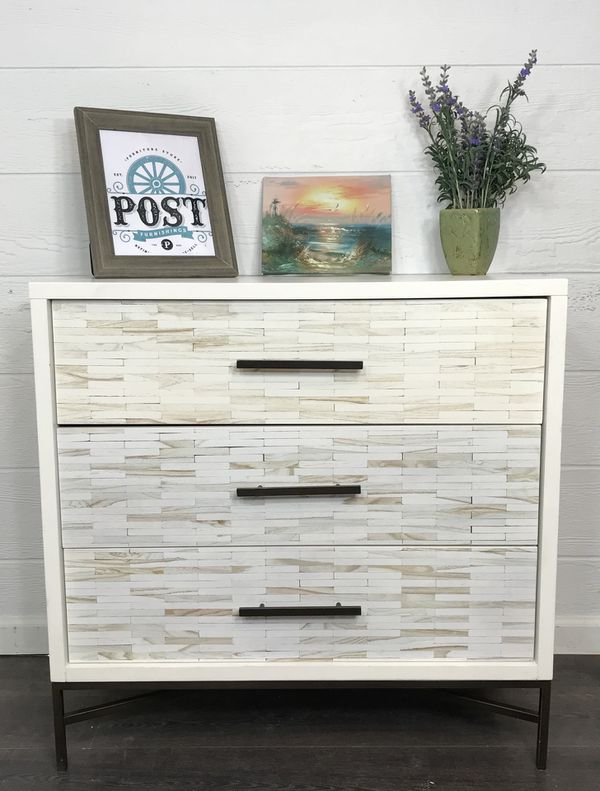 West Elm Wood Tiled Dresser For In