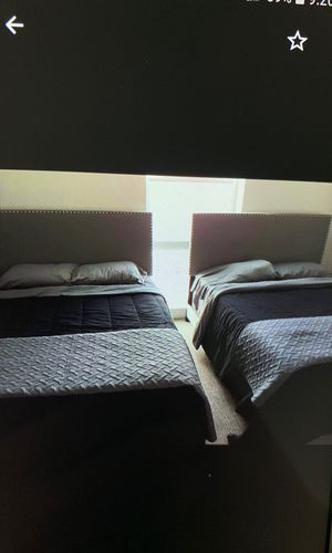 4 Queen size Beds with Frames -Matresses/Box Springs is for Sale in South Berwick, ME
