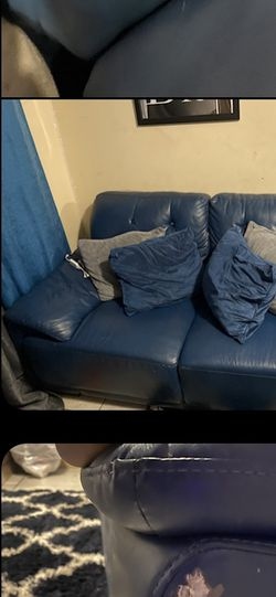 Blue Leather Sofa And Love Seat for Sale in Philadelphia,  PA