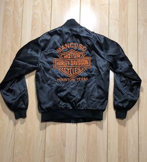 Harley Davidson bomber satin Jacket for Sale in Houston, TX