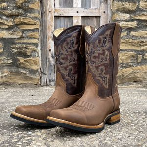 Rodeo Crazy Tan | Work Sole - 100% Leather! ROMÁN BOOTS!! Delivery Service Included!!! for Sale in San Antonio, TX