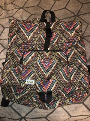 TOMS Tribal Print Laptop Backpack for Sale in Livonia, MI