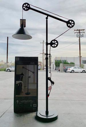 New in box 72 inches tall pulley floor lamp with led light bulb included heavy duty bronze steel finish for Sale in Pico Rivera, CA