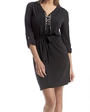 Michael Kors Chain Lace Up Dress Navy Blue Size Small New for Sale in Hialeah, FL