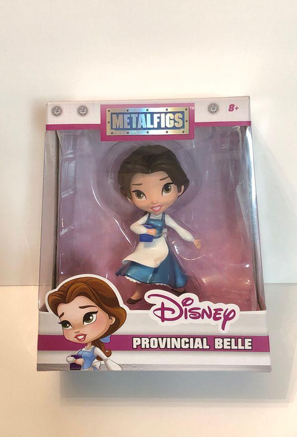"""Disney Beauty and the Beast Provincial Belle 4"""" Die-Cast Metal Figure Jada Toys"""