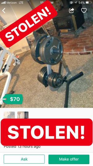 SOLD OLYMPIC WEIGHT LIFTING SET THAT WAS STOLEN!! for Sale in Modesto, CA