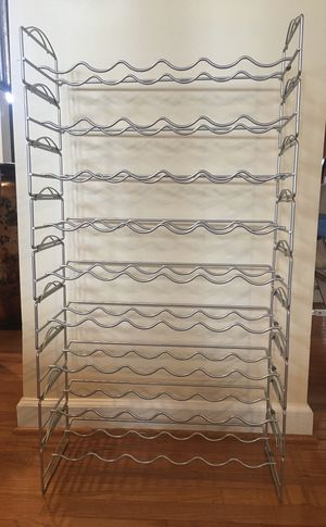 Stackable metal wine rack, 9-tier, 6 bottle per rack for Sale in Damascus, MD